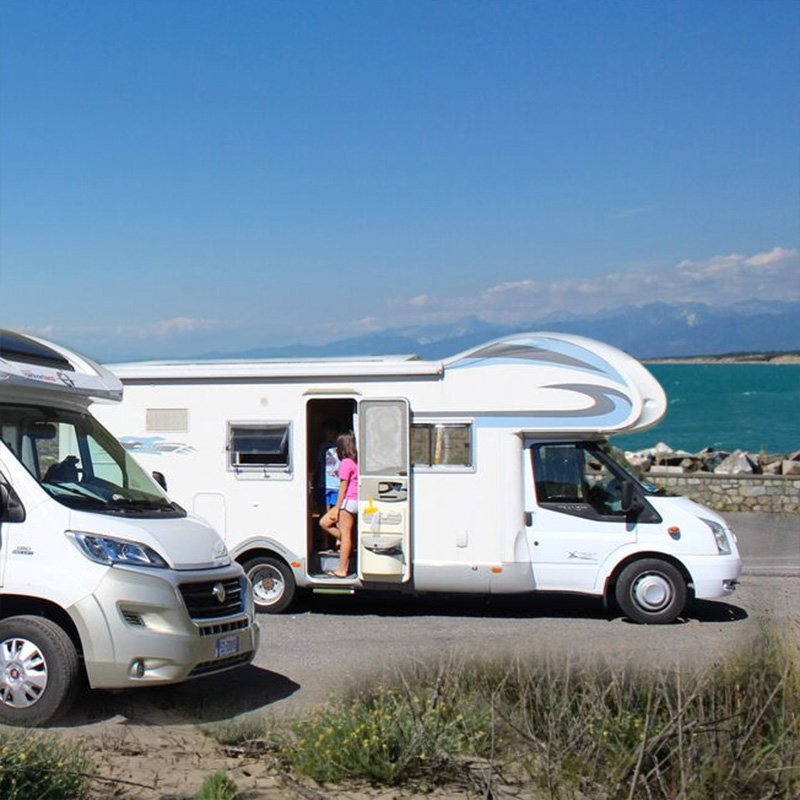 RV parking areas in Versilia and in Viareggio
