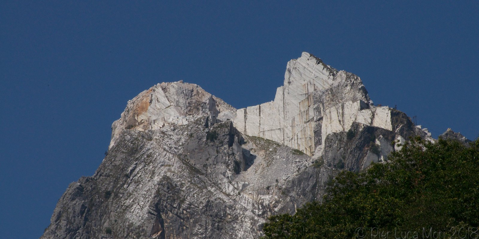The Marble quarries on the Apuan Alps